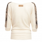 gold boho sequins blouse