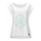 white t-shirt with ethic print