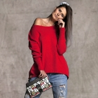 Cashmere red sweater