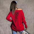 Sweter kaszmir Łapacz Snów czerwony