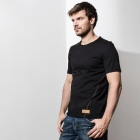 man's cotton t-shirt. Color black. High quality