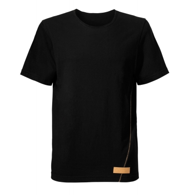 man's cotton t-shirt. Color black. High quality
