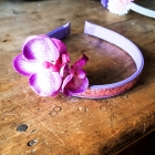 Pink band with orchid