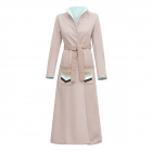 Long beige & mint coat