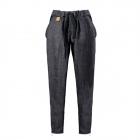 Ciemnoniebieskie wełniane spodnie jesień / zima