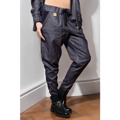 Dark blue wool trousers
