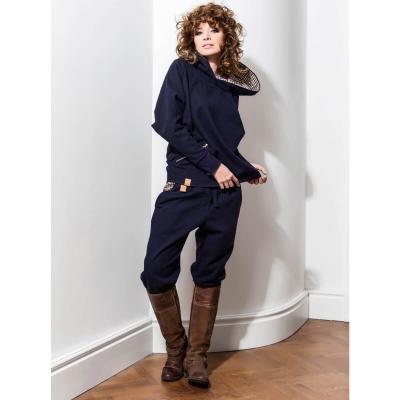 Granatowe wełniane spodnie jesień / zima