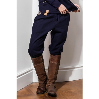 Deep blue wool trousers