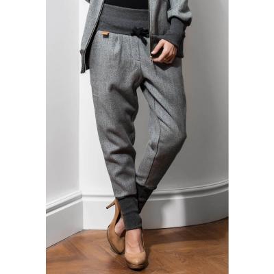 Szare wełniane spodnie jesień / zima