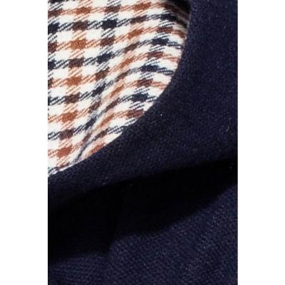 Big hood pullover blouse (deep blue)