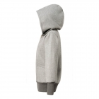 Big hood straight zipper blouse