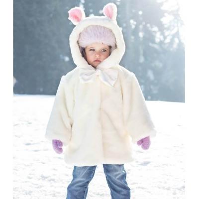 Płaszczyk - futerko dziecięce - krótki włos Ecru