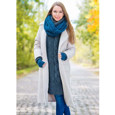 Płaszcz Mooki beżowy jesień / zima