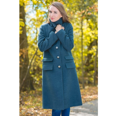 Coat MOOKI color deep ocean blue