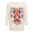 Giza sweater ecru & amaranth